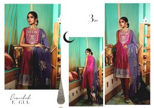 Shehr-e-Uns Unstitched Eid Dresses Collection 2021 By Cross Stitch (8)