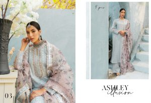 Unstitched Luxury Dresses Eid 2021 Collection By Cross Stitch (10)