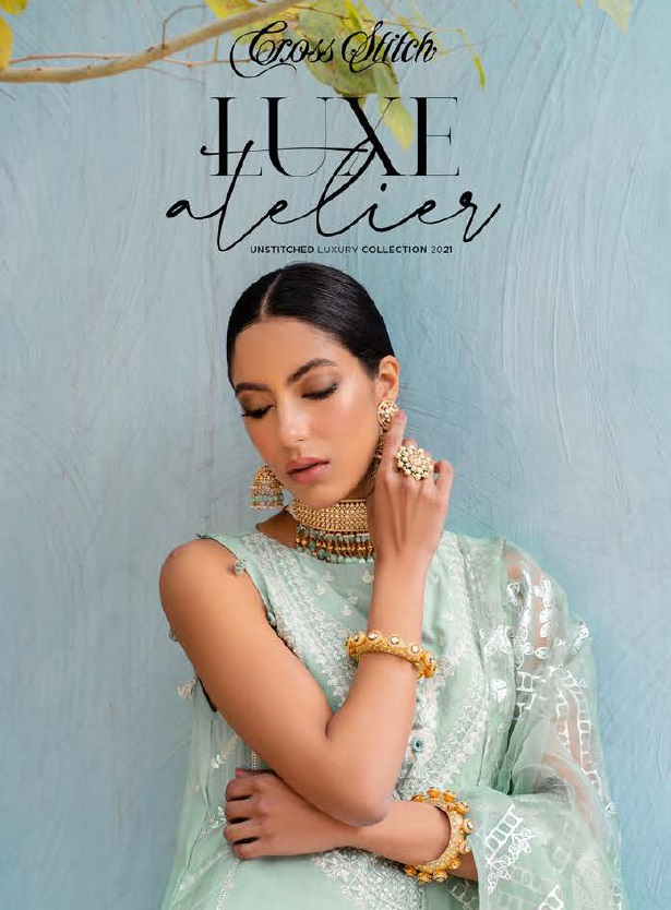 Unstitched Luxury Dresses Eid 2021 Collection By Cross Stitch (2)