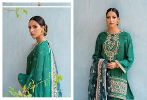 Unstitched Luxury Dresses Eid 2021 Collection By Cross Stitch (3)
