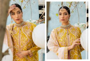 Unstitched Luxury Dresses Eid 2021 Collection By Cross Stitch (6)