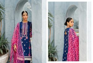 Unstitched Luxury Dresses Eid 2021 Collection By Cross Stitch (8)