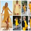 Yellow Colour Dresses Trend 2018