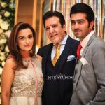 Javed Sheikh his Wife , Son Shahzad and Daughter Momal at a Family Wedding (3)