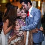 Javed Sheikh his Wife , Son Shahzad and Daughter Momal at a Family Wedding (4)