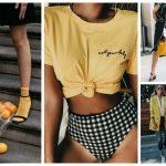 Yellow Colour Dresses Trend 2018 (4)