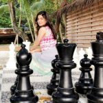 Pakistani actress & host Sanam Baloch is on vacations in Maldives