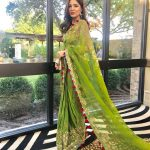 Ayesha Omar traditionally dressed at an event in the United States (10)