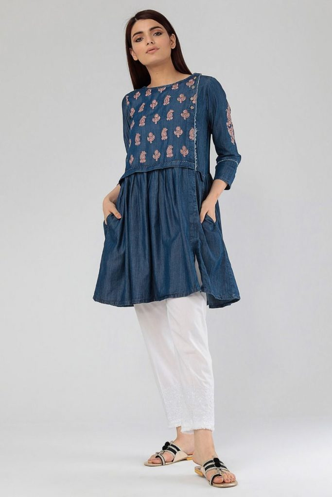 Embroidered Kurta Stylish Design 2018 By Khaadi