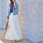 Hijab Look with Flare Skirt Outfit Fashion 2018 (18)