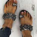 Toe Loop Flats Fashion In Summers 2018 (10)