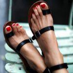 Toe Loop Flats Fashion In Summers 2018 (3)