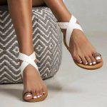 Toe Loop Flats Fashion In Summers 2018 (5)