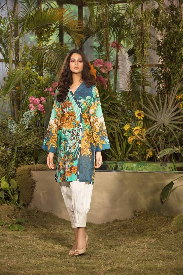 Gul Ahmed Les Morris Women's Eid Dresses Collection 2019 (3)