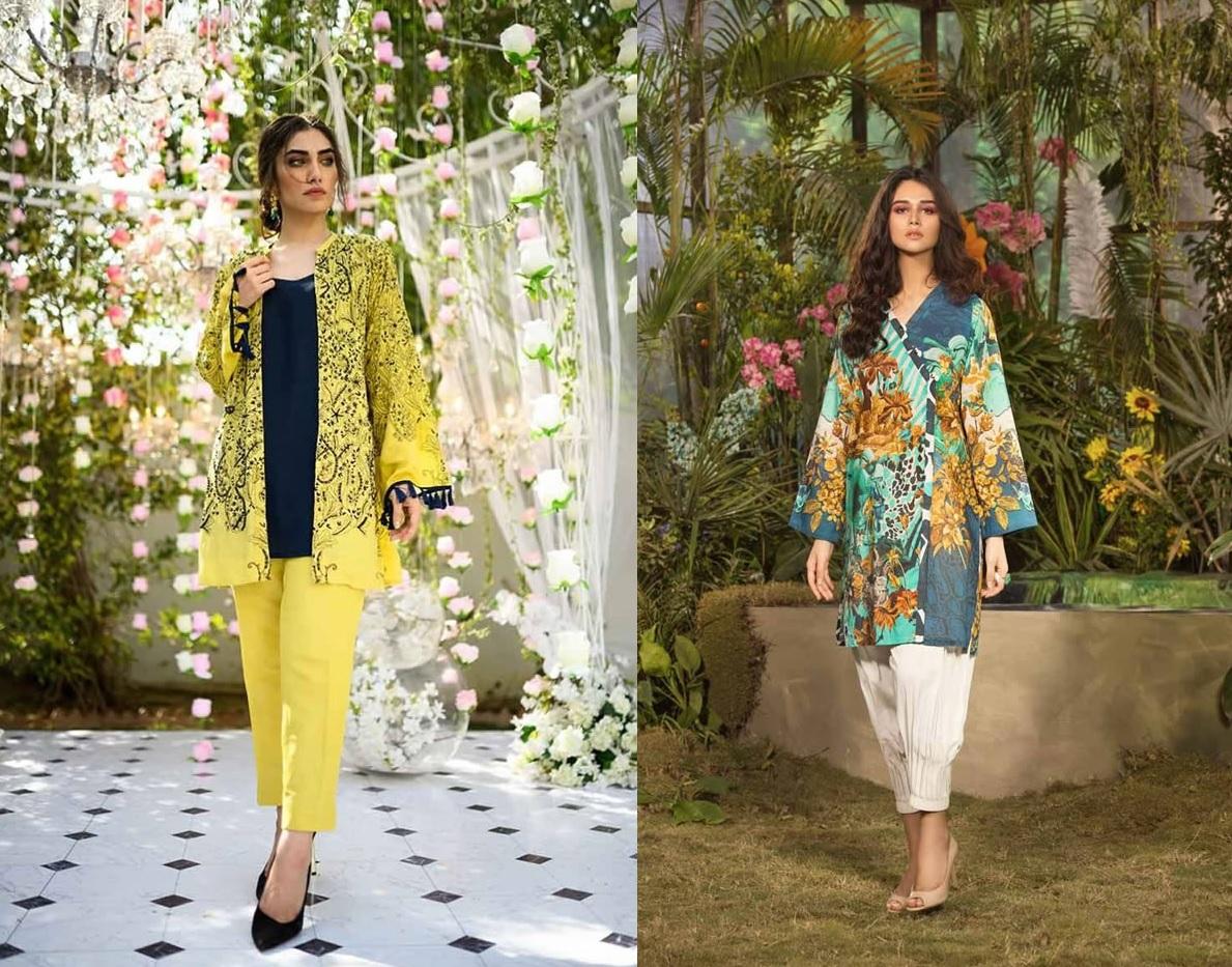 Gul Ahmed Les Morris Women's Eid Dresses Collection 2019 (9)