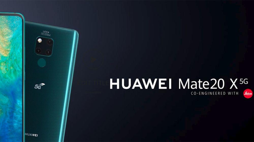 Huawei reveals the mate 20 x 5 g