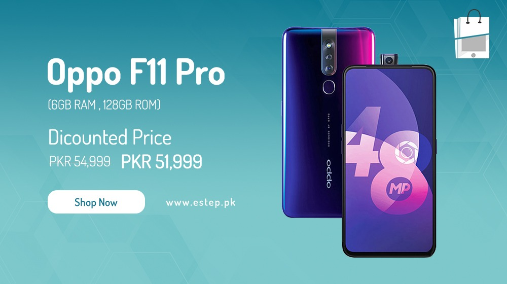 Obtain the Oppo F11 Pro for Rs. 52,000 in eStep.pk