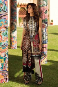 Womens Embroidered Eid Dresses 2019 By Firdous (1)