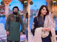 Yasir Nawaz and Neelum Muneer in Ehsaas Ramzan Transmission 2019 (1)