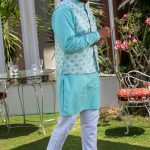 Men's Eid Kurta Kameez And Waistcoat Collection 2019 By Sanaullah Store 2