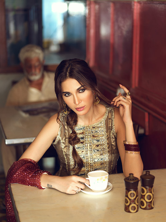 Umsha By Uzma Babar Women's Eid Dresses Collection 2019 2