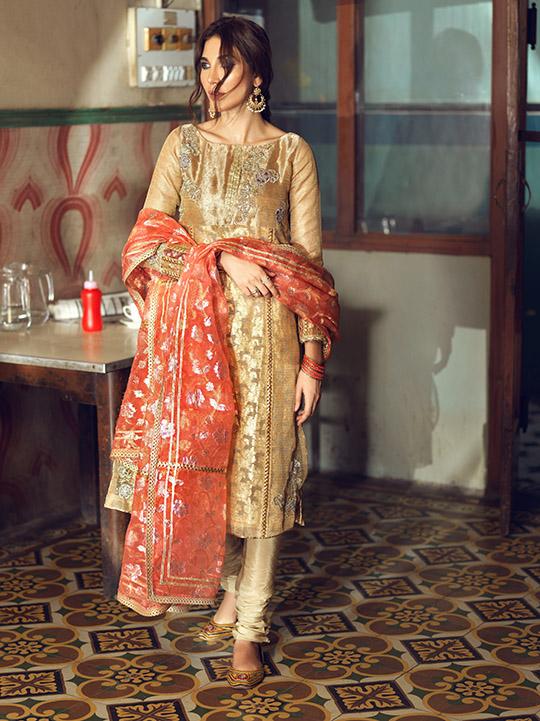 Umsha By Uzma Babar Women's Eid Dresses Collection 2019 3