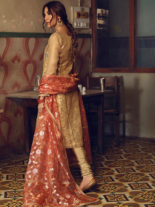 Umsha By Uzma Babar Women's Eid Dresses Collection 2019 4