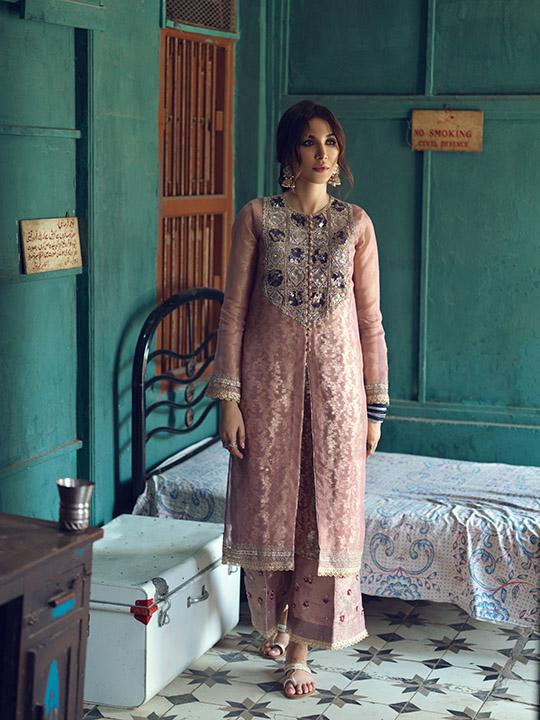 Umsha By Uzma Babar Women's Eid Dresses Collection 2019 5