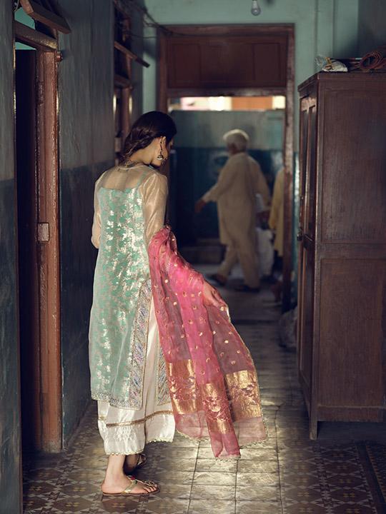 Umsha By Uzma Babar Women's Eid Dresses Collection 2019 9