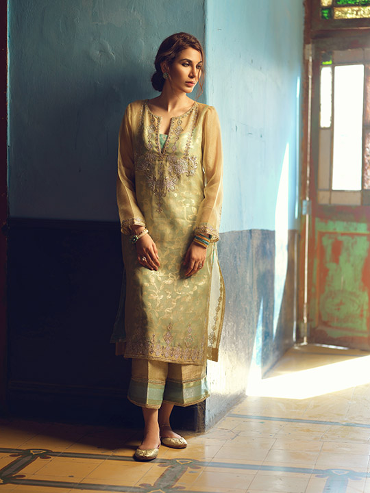 Umsha By Uzma Babar Women's Eid Dresses Collection 2019 10
