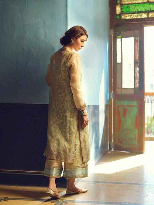 Umsha By Uzma Babar Women's Eid Dresses Collection 2019 11