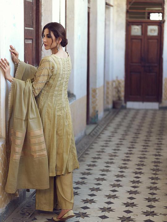 Umsha By Uzma Babar Women's Eid Dresses Collection 2019 15