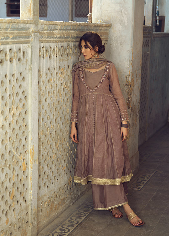 Umsha By Uzma Babar Women's Eid Dresses Collection 2019 16