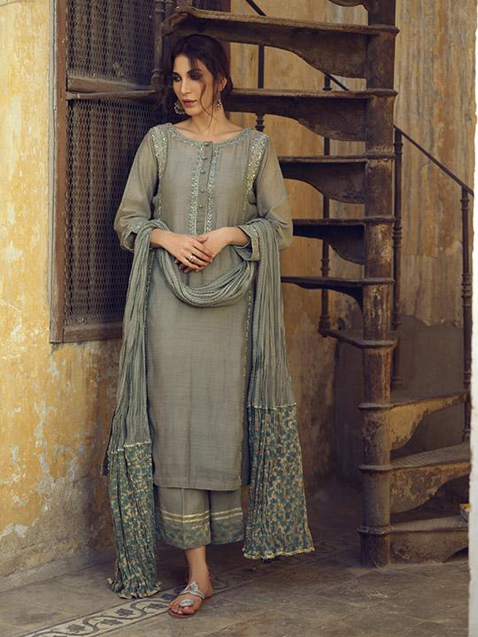 Umsha By Uzma Babar Women's Eid Dresses Collection 2019 18