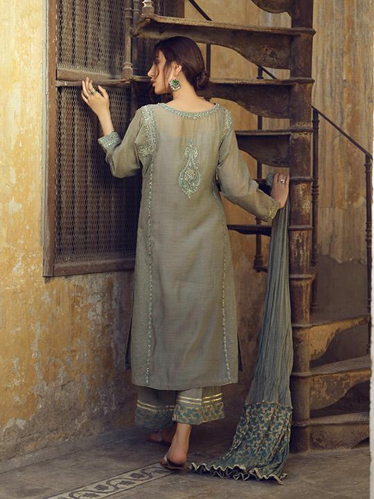 Umsha By Uzma Babar Women's Eid Dresses Collection 2019 19