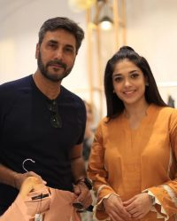 Celebrities in Sanam Jung Sister Anum Jung Launch of the new store (1)