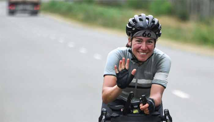 The 4,000km cycle race, German woman made money