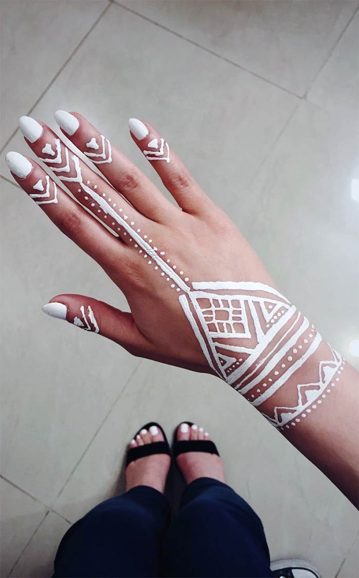 Women's Love White Henna Fashion 2019 (3)