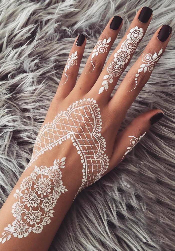 Women's Love White Henna Fashion 2019 (6)