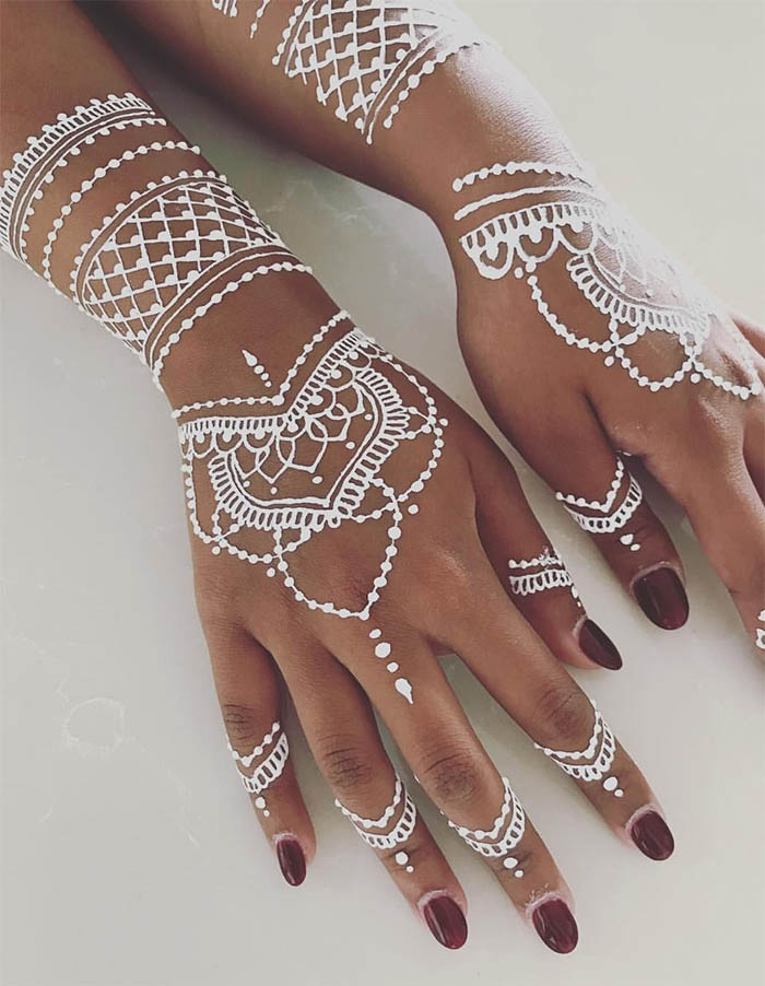 Women's Love White Henna Fashion 2019 (8)