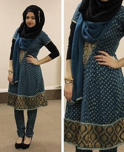 How Pakistani Womens Wear Hijab With Shalwar kameez (7)