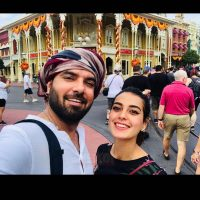 Actress Iqra Aziz with Yasir Hussain at Disney Land USA (1)