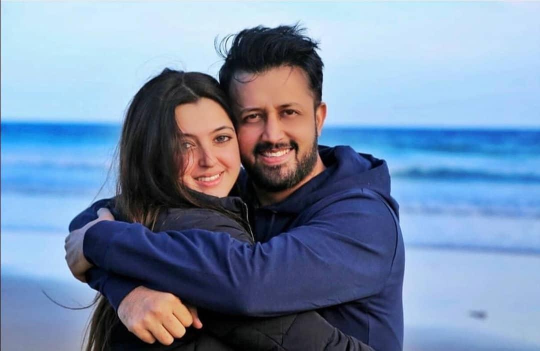 Atif Aslam Latest Images with his Wife Sara Bharwana (12)