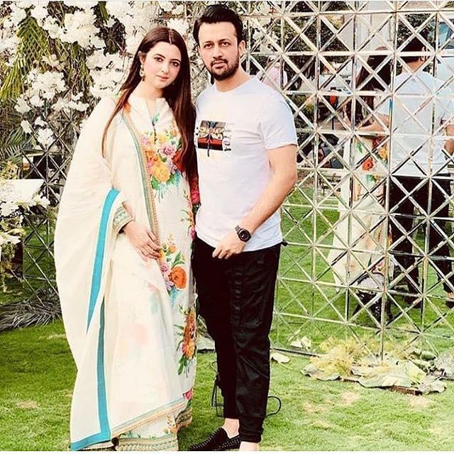 Atif Aslam Latest Images with his Wife Sara Bharwana (5)
