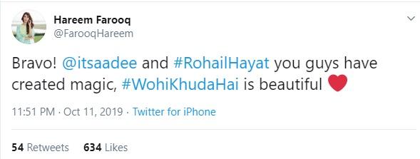 Celebrities loved Wohi Khuda Hai by Atif Aslam for Coke Studio (3)