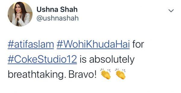 Celebrities loved Wohi Khuda Hai by Atif Aslam for Coke Studio (7)
