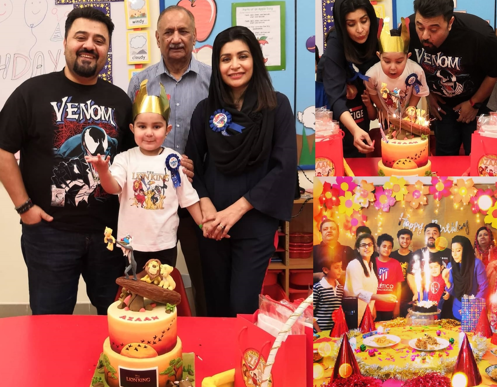 Pakistani Actor Ahmed Ali Butt Celebrate his Son Azaan Birthday Images (1)