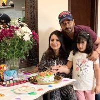 Pakistani Actor Faisal Qureshi Celebrate His Wife Sana Faysal Birthday (1)