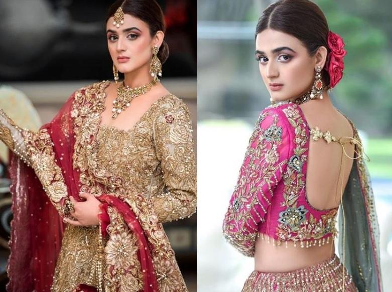 Hira Mani Pakistani Actress Bridal Photo Shoot for Nickie Nina (1)