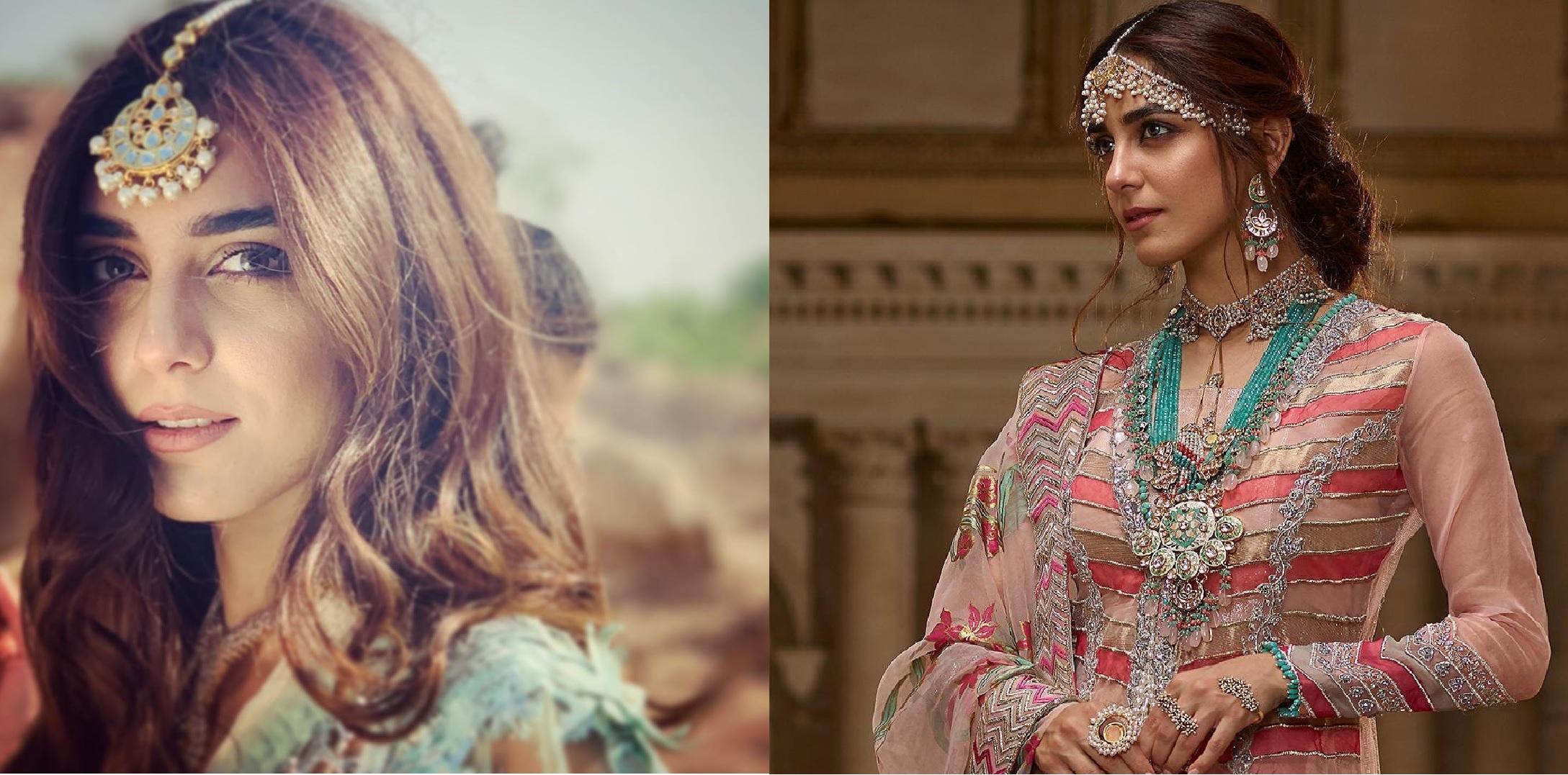 Maya Ali Famous Pakistani Actress Latest Shoot In Bridal Dresses (1)